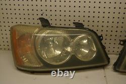 2001 2002 2003 Toyota Highlander Left & Right Front Headlights Lamp OEM