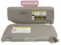 2001-2007 TOYOTA HIGHLANDER Vinyl Sunvisors Homelink Left & Right Gray OEM
