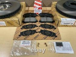 2001-2007 Toyota Highlander Genuine Oem Front Brake Rotors Tcmc Pads And Shims