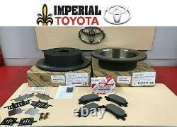 2004-2007 Highlander Genuine Oem Toyota Rear Brake Rotors Tcmc Pads & Oem Shims