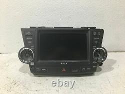 2008-2009 toyota highlander navigation nav GPS display screen 86120-48F00 OEM