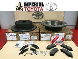 2008-2013 Highlander Genuine Oem Toyota Rear Brake Rotors, Oem Pads & Oem Shims