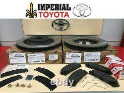 2008-2018 Toyota Highlander Oem Genuine Front Brake Rotors, Oem Pads & Oem Shims