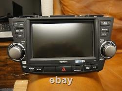 2010-2013 Toyota Highlander OEM GPS Navigation System DVD ROM DRIVE JBL NEW