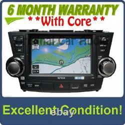 2011 2012 13 Toyota HIGHLANDER Navigation Radio GPS Touch Screen CD Player E7033