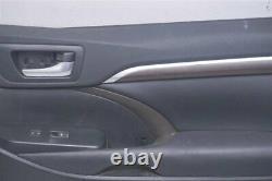 2014 15 16 Toyota Highlander OEM BLACK FRONT PASSENGER DOOR PANEL 67610-0E611-C2