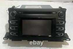 2014 2015 Toyota Highlander AM FM CD Player Radio Receiver with Display P10430 OEM