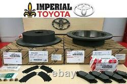 2014-2018 Toyota Highlander New Rear Genuine Oem Brake Rotors, Oem Pads & Shims