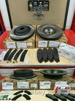 2014-2018 Toyota Highlander Oem Genuine Front & Rear Rotors, Pads & Shim Kit