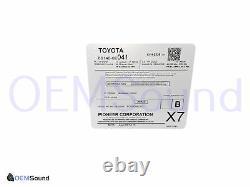 2014-2018 Toyota Highlander Radio AM FM CD Player Touch Screen Bluetooth OEM