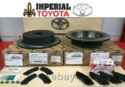 2014-2019 Toyota Highlander New Rear Genuine Oem Brake Rotors, Tcmc Pads & Shims