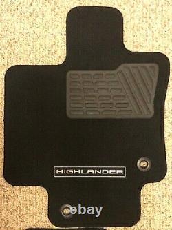 2020-2021 Toyota Highlander OEM Carpet Floor Mat Set (4pc) Black PT926-48200-20