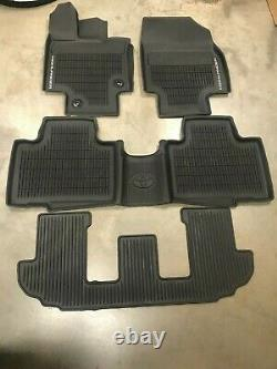 2020 Toyota Highlander 3 Row 4PC OEM All Weather Floor Liners Mat PT908-48200-20
