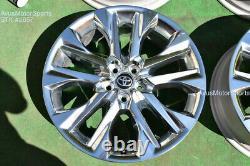 20 Toyota Highlander Limited OEM Factory Platinum Clad Wheels 4260D0E030 2021