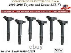 6 NEW Ignition Coils OEM DENSO for 2008-2011 Toyota Highlander V6 3.5L