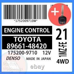 89661-48420 With PROGRAMMED TRANSPONDER KEY 2003 03 Toyota Highlander OEM ECU ECM