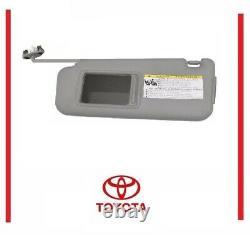 Genuine Toyota Highlander 2014-19 Gray Driver Side Sun Visor OEM
