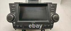 Info GPS TV Screen Navigation 86120-48F00 Fits 08-10 Toyota Highlander OEM