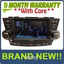 NEW TOYOTA Highlander Navigation GPS LCD Display E7016 JBL Radio MP3 CD Player