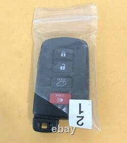 New Oem 14-18 Toyota Highlander Proximity Smart Keyless Remote Fob 89904-0e121
