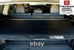 New Oem Toyota Highlander 2014-2019 Black Rear Cargo Tonneau Cover