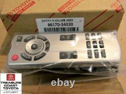 New Oem Toyota Highlander & Sequoia DVD Entertainment Remote Controller