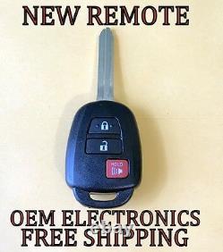 New Uncut Toyota Rav4 Highlander Tundra Keyless Remote Head Fob Gq4-52t H Chip