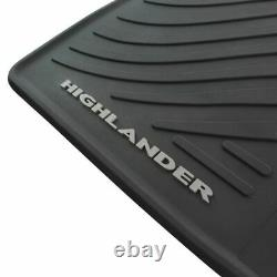 OEM All Weather Black Rubber Floor Mat Kit Set of 5 for Highlander SUV Truck New