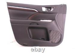 OEM DOOR TRIM PANEL FRONT LEFT DRIVER HIGHLANDER 14-19 BLACK non-JBL NICE