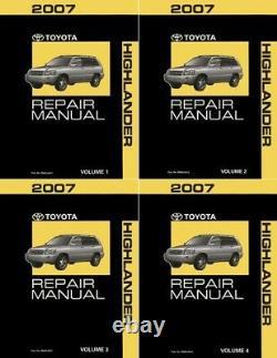 OEM Repair Maintenance Shop Manual Bound for Toyota Highlander Complete Set 2007