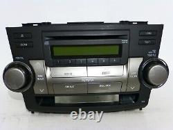 OEM TOYOTA HIGHLANDER Radio 6 CD DISC CHANGER MP3 WMA Player STEREO HEAD UNIT