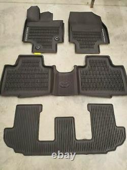 Oem 2020-2021 Toyota Highlander Floor Mats Rubber All Weather 4pc Set
