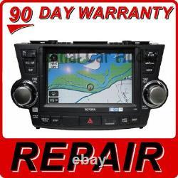 REPAIR YOUR 2008 2013 Toyota Highlander OEM Navigation GPS Screen Repair ONLY