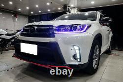 Switchback LED Daytime Lights with Sequential Turn Signal For 2017-19 Highlander