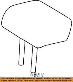 TOYOTA OEM Highlander Second Row Back Rear Seat-Headrest, Center 719600E170B2