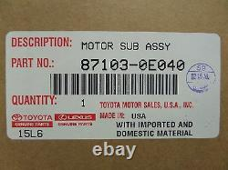 Toyota Avalon Camry Highlander Venza Blower Motor Assembly Genuine OEM OE