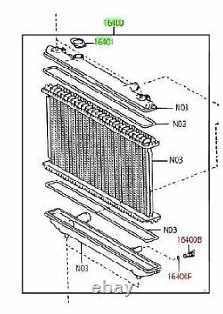 Toyota Highlander 01-07 4cyl 2.4L Radiator Assembly with Cap Genuine OEM OE