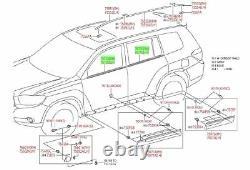Toyota Highlander 08-10 Door Belt Moulding 4pc Kit Set Weatherstrip Genuine OEM