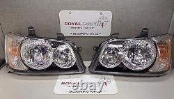 Toyota Highlander 2001 2003 Right & Left Front Headlights Lamp Genuine OEM OE