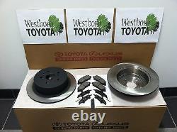 Toyota Highlander 2008-2013 New OEM Genuine Rear Brake Rotors Pads & Shim Kit