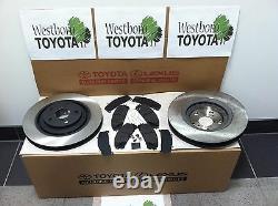 Toyota Highlander 2008-2019 Genuine Oem Front Brake Rotors & OEM Pad & Shim Kit