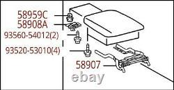 Toyota Highlander 2010-2013 Black Center Console Armrest Lid Genuine OEM OE