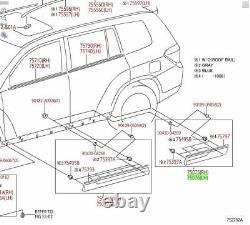 Toyota Highlander 2011 2013 Rear Left Door Molding Garnish Genuine OEM OE