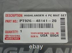 Toyota Highlander 2014 2018 Carpet Floor Mats Captain Chairs Set Genuine OEM