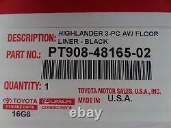 Toyota Highlander 2014 2019 All Weather Floor Liners Genuine OEM OE