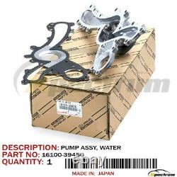 Toyota Lexus Camry Rav4 Highlander Es/rx Factory Oem 16100-39456 New Water Pump